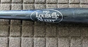 NY Mets Paul Hammond Pizza Hut black baseball bat silver writing