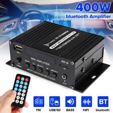 New listing 400W 12V Car Power Amplifier bluetooth Audio Digital HiFi Stereo Fm Sd Aux Mp3 ~