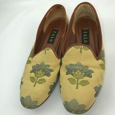 Zalo Embroidered Flats Smoking Slippers Shoes Size 11