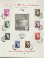 Belgique België 1937, Beau souvenir philatélique, bien