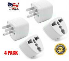 4 Pcs Universal EU UK AU to US USA AC Travel Power Plug in Adapter Converter