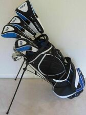 "NEW Tall Mens Golf Clubs Set +1"" Driver, Woods, Hybrid, Irons, Putter Bag Stiff"