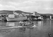 """AK, Sassnitz Rügen, Hafen mit Fährschiff """"Skane"""", 1971"""