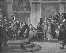 French Revolution SUN KING LOUIS XIV France ~ Old 1882 Art Print Engraving