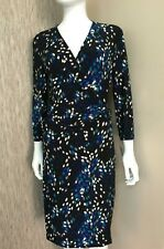 ANNE KLEIN STRETCH JERSEY FAUX WRAP DRESS SIZE UK 16 BNWT