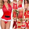 Mujer sexy-lingerie Ropa Interior Picardías Encaje Pijama Navidad Vestido