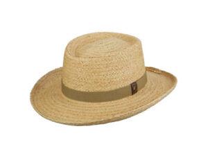 "Scala Men's Raffia Straw Golf ""DRIVER"" Gambler Hat, Style# 321"