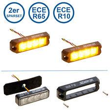 LED-MARTIN® 2er SparSet R65 PROFLASH gelb - Frontblitzer - Straßenräumer -Blitzm