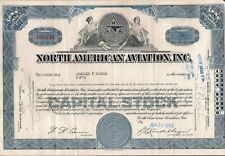 North American Aviation, Inc. stock certificate (Boeing) + $2 stamp 1965