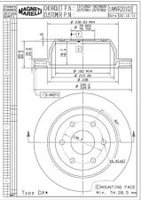 Disc Brake Rotor-LT Rear Magneti Marelli 1AMVR20102