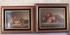 2 natures mortes hst huile sur toile 19eme de L.Cholet peinture tableau 1896