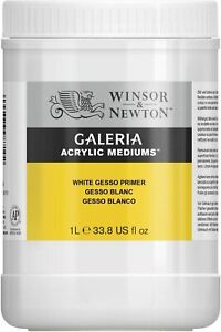 Winsor & Newton Galeria 1 Litre White Gesso Primer Acrylic Medium Art Supplies