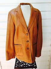 The Territory Ahead Leather Jacket Butter Soft Tan Blazer Jacket Women's 10