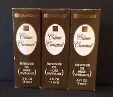 Aromatique 3 Bottles CREME CARAMEL Refresher Oil 0.5 oz