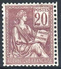 """FRANCE STAMP TIMBRE N° 113 """" TYPE MOUCHON 20c BRUN-LILAS """" NEUF xx LUXE P235"""