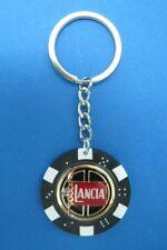 LANCIA LOGO POKER CHIP DICE KEYRING KEY RING CHAIN #123