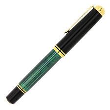 Fountain Pen PELIKAN Souveràn M1000 Black Green Fine Nib 18k with piston and new