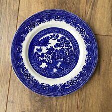 Old Willow Dessert Plate Starter/Salad ALFRED MEAKIN Blue RARE 19.5 cm Size