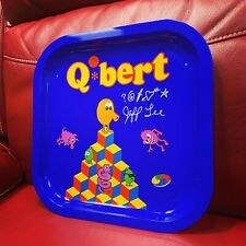 Vintage 1983 Q*Bert Tray Signed By Qbert Creator Jeff Lee Autograph Video Game