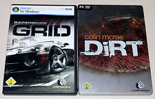 2 PC juegos bundle-Colin McRae Dirt Steelbook & racedriver grid-Racing