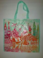 New Home Goods Shopping Tote Reusable Bag Travel Around the World Paris London