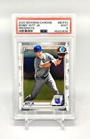 ❤️2020 Bowman Chrome Bobby Witt Jr 1st Bowman PSA 9 MINT #BCP-25 KC Rookie RC