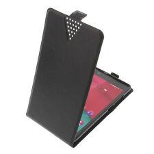 Tasche Flip-Style Smartphone Handytasche Schutzhülle Flip Case Schwarz V51