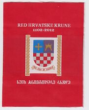 ORDER OF THE CROATIAN CROWN PRO DEO ET PATRIA RED HRVATSKE KRUNE 1102-2012 PATCH