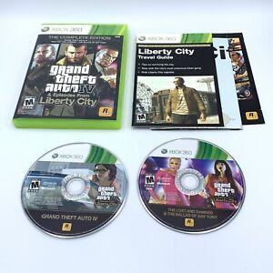 Grand Theft Auto IV - Complete Edition (Microsoft Xbox 360 2010) w/ Map & Manual