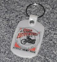 The Ohio Adventure MOTORCYCLE Enrichment Program PROMO KEY CHAIN RING safety OLD