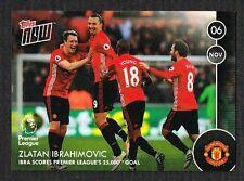 Topps Zlatan Ibrahimovic ahora 2016-17 - Man Utd tarjeta (sólo 225 en todo el mundo)
