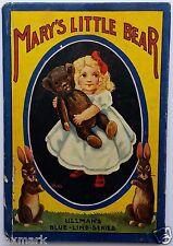Mary's Little Bear           1908 Children's Book            The Ullman Mfg. Co.