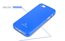 Glossy IMUCA iPhone 5/5S Ultra Slim Case w. Screen Protector, Stylus &Wipe Blue