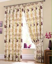 """Kinsale 3"""" Pencil Pleat Lined Curtains or Cushion Cases Available in 5 Colours Heather 66x90"""" (168x229cm)"""