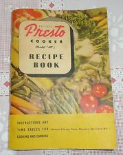 PESTO COOKER MODEL 60 RECIPE BOOK - INSTRUCTIONS AND TIME TABLES FOR CANNING