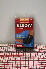 Mueller One Size Black Adjustable Elbow Support Sport Care 6331 Fits Left/ Right