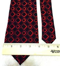 Saxony Collection Men's Tie Red and Black