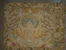 "Pottery Barn ""Rustic Floral Linen - Yellow"" Standard Pillow Sham"