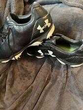 EUC Clean Black & White Under Armour Golf Shoes Spikes size 13 4D Foam Outdry