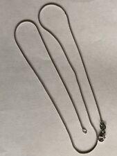 "950 platinum round snack necklace 1mm, 18"""