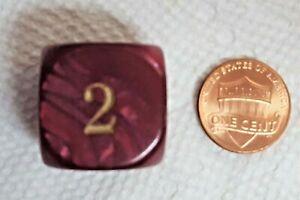 "Koplow's Backgammon Doubling Cube - Pearl Red -22mm (7/8"") Burgundy?"