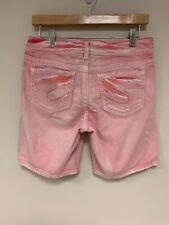 Silver Jeans Co. Suki  Shorts Sz 27 denim PINK so cute! **