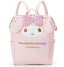 Cute My Melody Girls Backpacks PU Leather Bag School Travel Backpack Bookbags