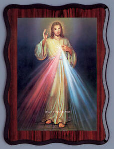 "'The Divine Mercy' Laminated Picture - Plaque 12½ "" x 9"" Religious Gift New"