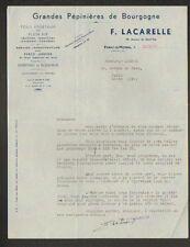"PARAY-LE-MONIAL (71) GRANDES PEPINIERES DE BOURGOGNE ""F. LACARELLE"" en 1937"