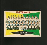 9772* 1960 Topps # 174 Indians Team (unmarked) EX