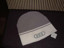 AUDI COLLECTION '12/'13 NEW KNIT BEANIE HAT WITH LARGE AUDI RINGS LOGO!
