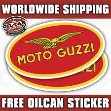 2x moto guzzi stickers / decals 85mm x 45mm