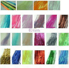 """300S 28"""" silk hair tinsel for human / feather hair extensions ,29 color option"""