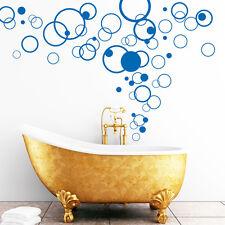 Sticker mural bain Cercles 60tlg. Circle déco rétro Dots autocollant salle de